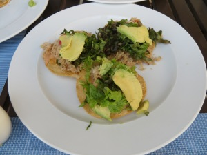 Shredded crab tostaditas